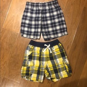 2 pair of boys plaid shorts